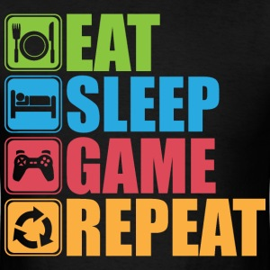 Eat, Sleep, Game, Repeat - Icon Pictogram