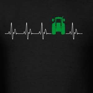 Heartbeat Traktor green - Men's T-Shirt