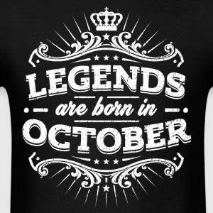 Legends Are Born In October Birthday Shirt - Men's T-Shirt