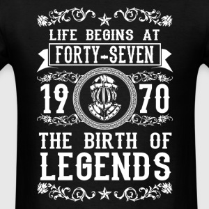 1970 - 47 years - Legends - 2017 - Men's T-Shirt