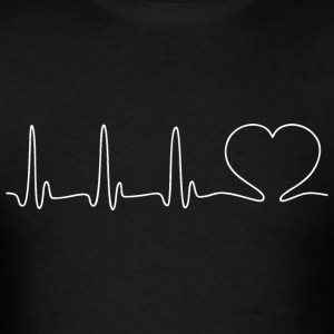 EKG HEARTBEAT white - Men's T-Shirt