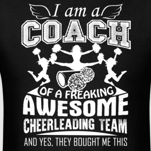 Proud Cheerleading Coach Shirt - Men's T-Shirt