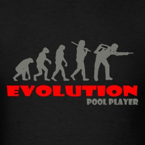 Pool player ape of Evolution Billiard