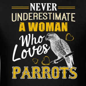 Woman Loves Parrots Shirt - Men's T-Shirt