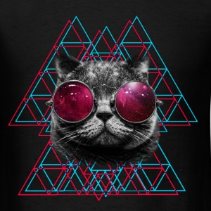 3D Space Cat T Shirt (Mens)