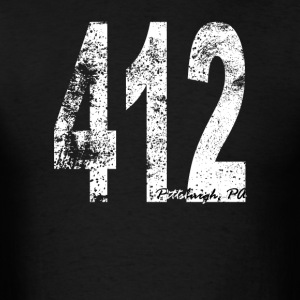 Vintage Pittsburgh Area Code 412 - Men's T-Shirt