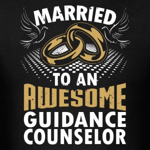Married To An Awesome Guidance Counselor - Men's T-Shirt