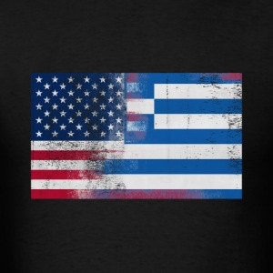 Greek American Half Greece Half America Flag - Men's T-Shirt