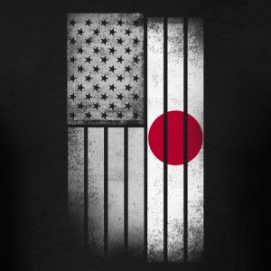Japanese American Flag - Men's T-Shirt