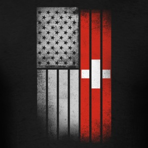 Swiss American Flag - Men's T-Shirt