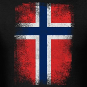 Norway Flag Proud Norwegian Vintage Distressed - Men's T-Shirt