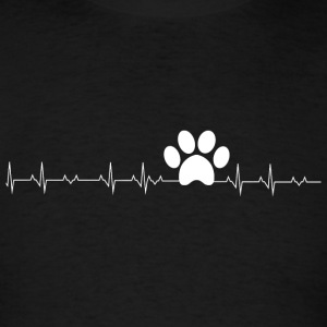 Paw - Paw Print Heartbeat - Men's T-Shirt