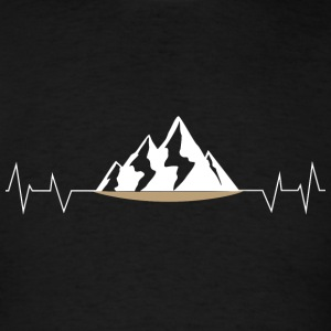 Mountain - Mountain Heartbeat - Camping - Men's T-Shirt