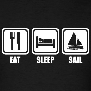 Sailing - Eat Sleep Sailing - Men's T-Shirt