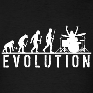 Drum - Evolution of Man and Drums - Men's T-Shirt