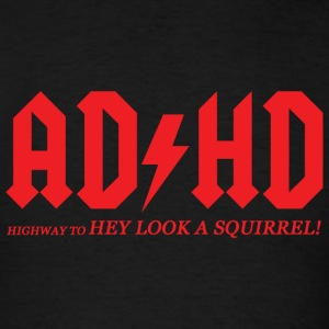 Adhd - adhd highway to hey look a square - Men's T-Shirt