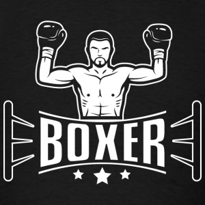 Boxing - Boxer in boxing ring - Men's T-Shirt