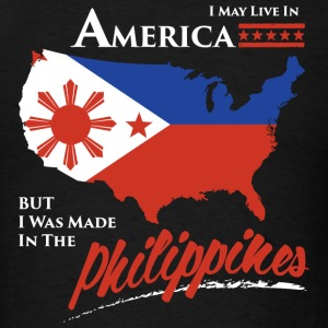 Philippines - i may live in america but i was ma - Men's T-Shirt