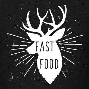 Vegetarian - Fast Food Deer - Funny Anti Vegan - Men's T-Shirt