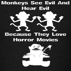 Monkeys - Because they love horror movies - Men's T-Shirt