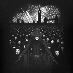 Anonymous in London - Firework T - shirt - Men's T-Shirt