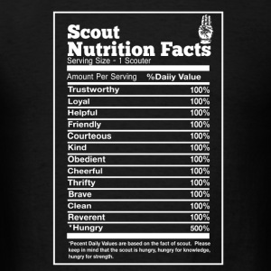 Scout nutrition facts - Hungry trustworthy loyal - Men's T-Shirt