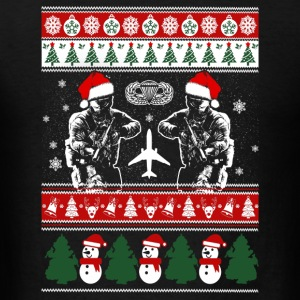 Paratrooper - paratrooper merry xmas sweater - Men's T-Shirt