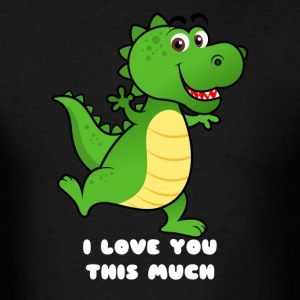 Cute Dino I love you this much - Men's T-Shirt