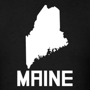 Maine State Silhouette - Men's T-Shirt