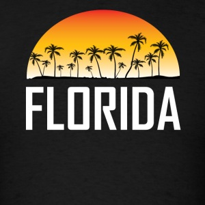 Florida Sunset And Palm Trees Beach Vacation - Men's T-Shirt