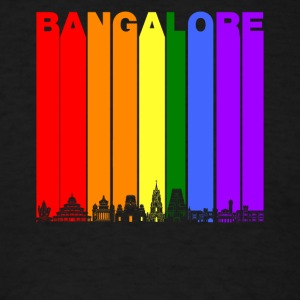 Bangalore India Skyline Rainbow LGBT Gay Pride - Men's T-Shirt