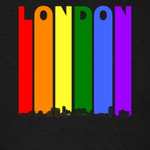 London Ontario Skyline Rainbow LGBT Gay Pride - Men's T-Shirt