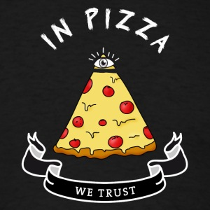 pizza Illuminati Funny All Seeing Eye Food Humor - Men's T-Shirt