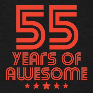 55 Years Of Awesome 55th Birthday - Men's T-Shirt