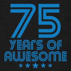 75 Years Of Awesome 75th Birthday - Men's T-Shirt