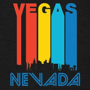 Retro Vegas Skyline - Men's T-Shirt