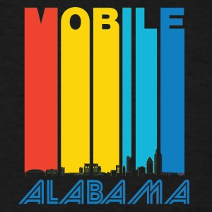 Retro Mobile Alabama Skyline - Men's T-Shirt