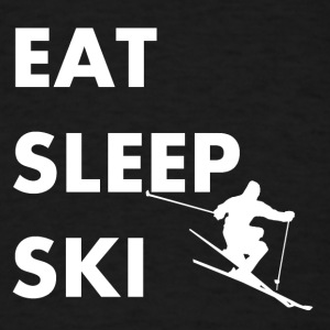Eat Sleep Ski Skiing - Men's T-Shirt