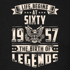 Life Begins At Sixty The Birth Of Legends tshirt - Men's T-Shirt
