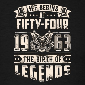 Life Begins At Fifty Four Tshirt - Men's T-Shirt