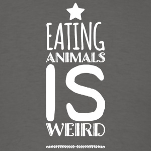 Vegetarian - Eating Animals Is Weird - Vegan Veg - Men's T-Shirt