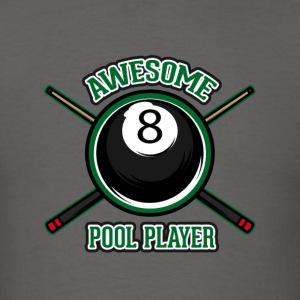Awesome pool player - Men's T-Shirt