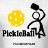 Man Serving Pickleball - Men's T-Shirt