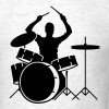 A drummer and drums - Men's T-Shirt