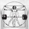 Vitruvian Barbell Man - Men's T-Shirt