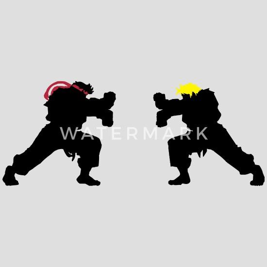 Ryu and Ken Hadouken Silhouettes Men's T-Shirt | Spreadshirt