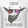 Deal with it star wars yoda edition - Men's T-Shirt