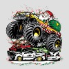 Santa Claus Monster Truck Men's T-Shirt | Spreadshirt