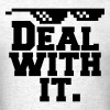 Deal With It. (Glasses) - Men's T-Shirt