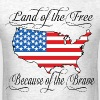 Land of the Free USA Flag - Men's T-Shirt